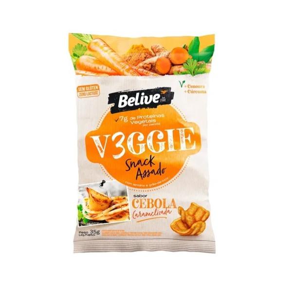 Veggie Snack Belive Assado Cebola Caramelizada 35g