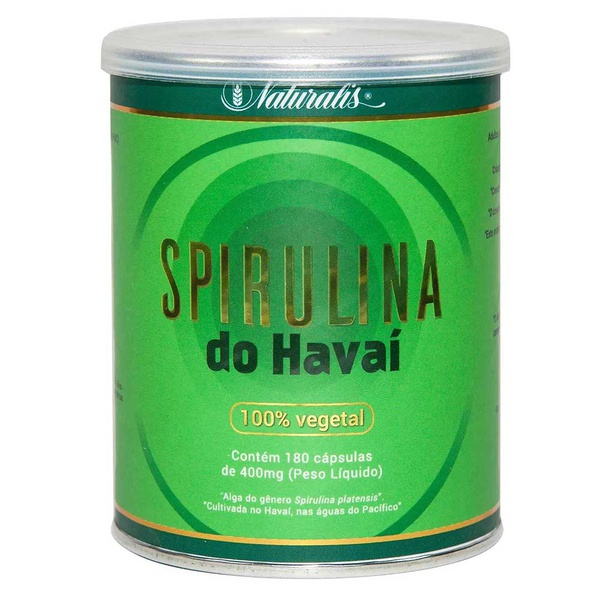 Spirulina do Havaí 180 cápsulas x 400mg