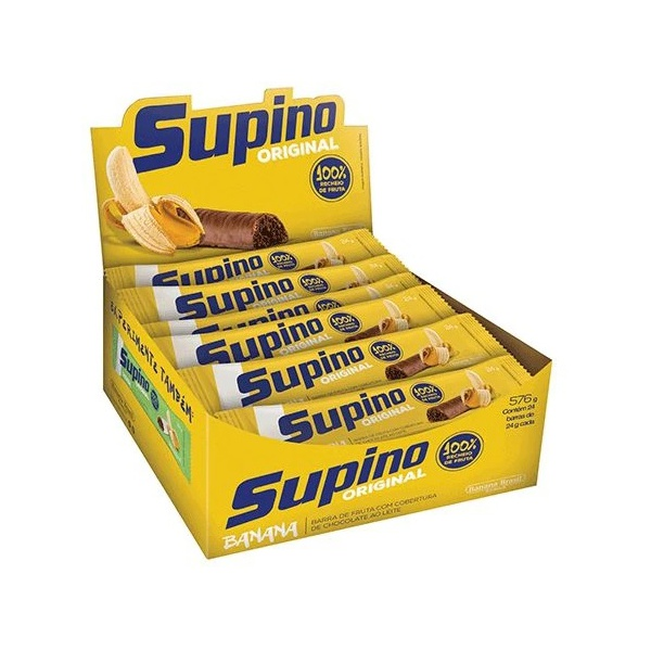 Supino Original Banana ao Leite Display 16un x 24g