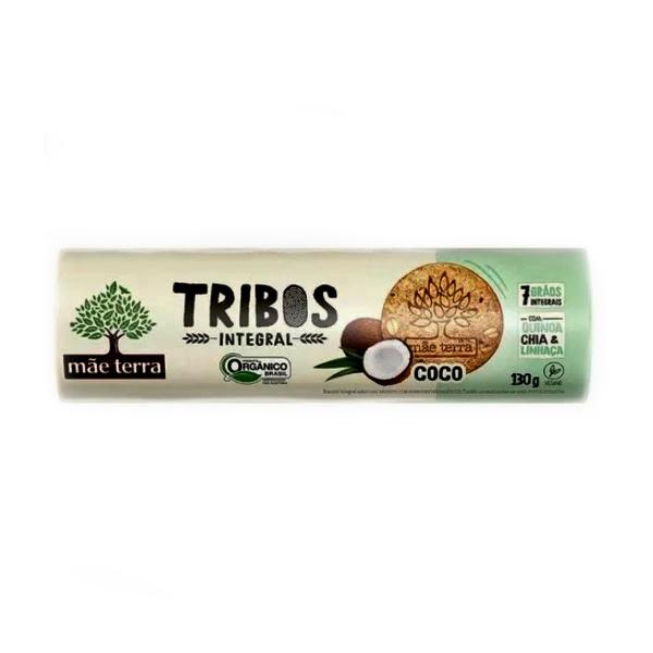 Biscoito Tribos Orgânico Integral Coco 130g