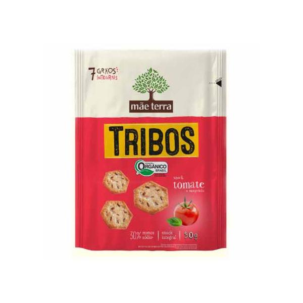 Biscoito Tribos Orgânico Tomate e Manjericão 50g