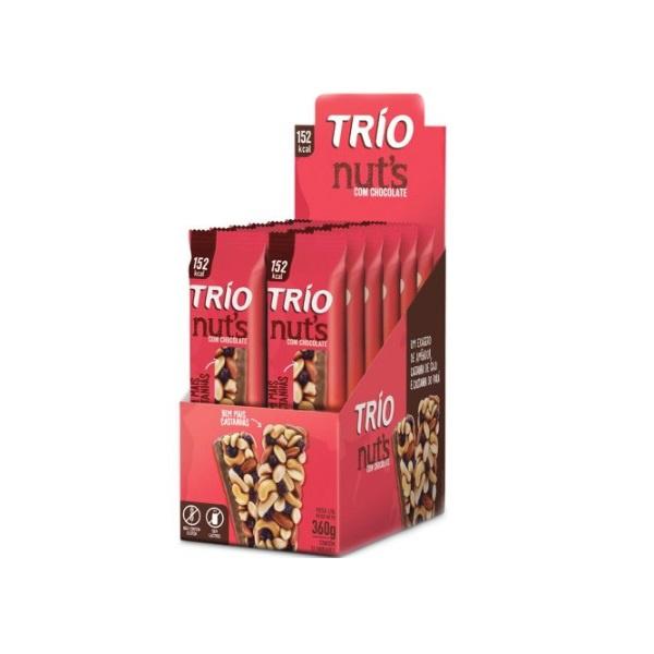 Trio Nuts Tradicional com Chocolate Display 12x30g