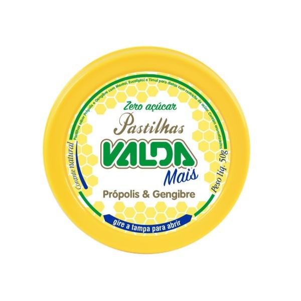Valda Mais Própolis e Gengibre Zero Açúcar Lata Display 10x50g