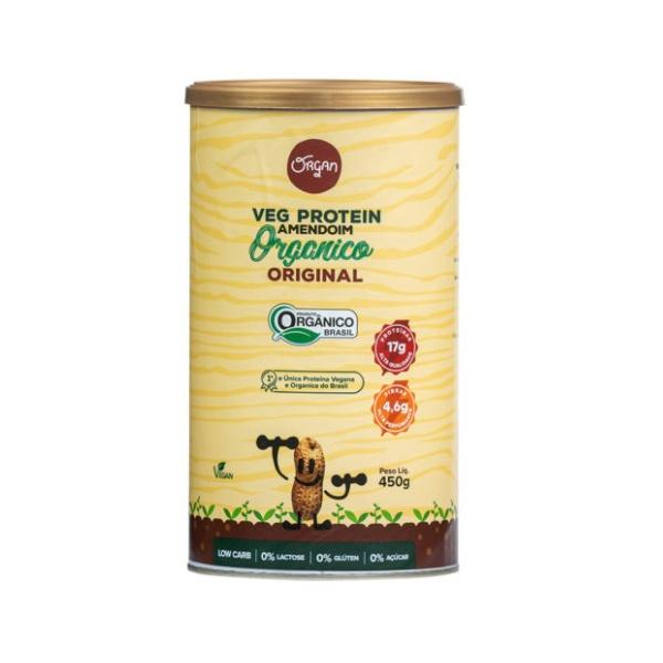 Veg Protein Amendoim Orgânico Original Pote 450g