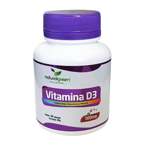 Vitamina D3 40 cápsulas x 500mg