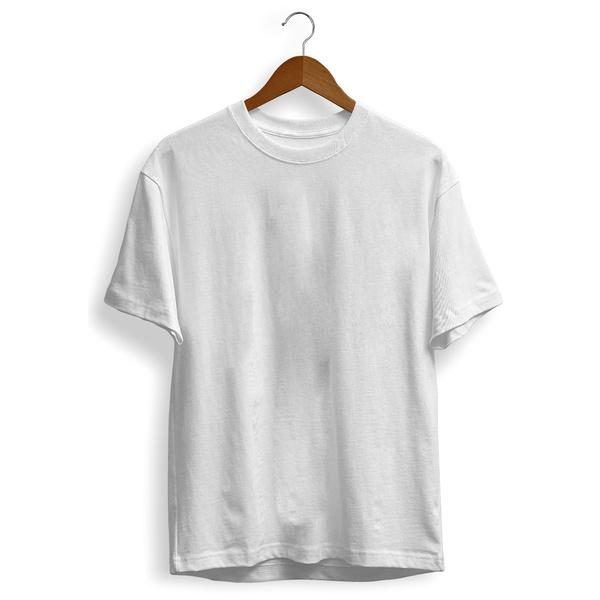 Camiseta Branca Básica Unissex Liso