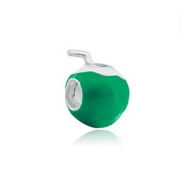 Berloque Prata Cocô Verde