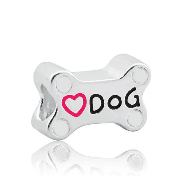 Berloque de Prata Osso Dog