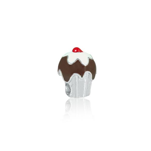 Berloque De Aço Cupcake