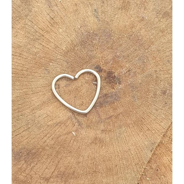 Piercing Aço coração