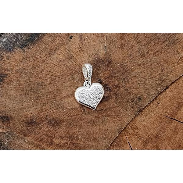 Pingente Prata Coração Zircônia