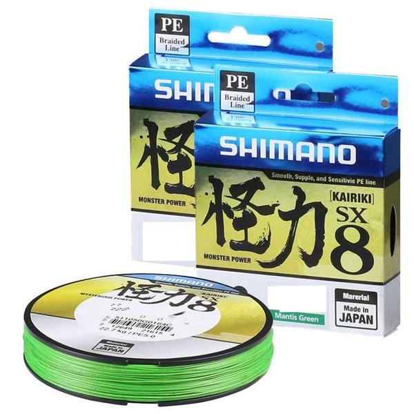 LINHA MULTIFILAMENTO SHIMANO KAIRIKI 150M - Verde