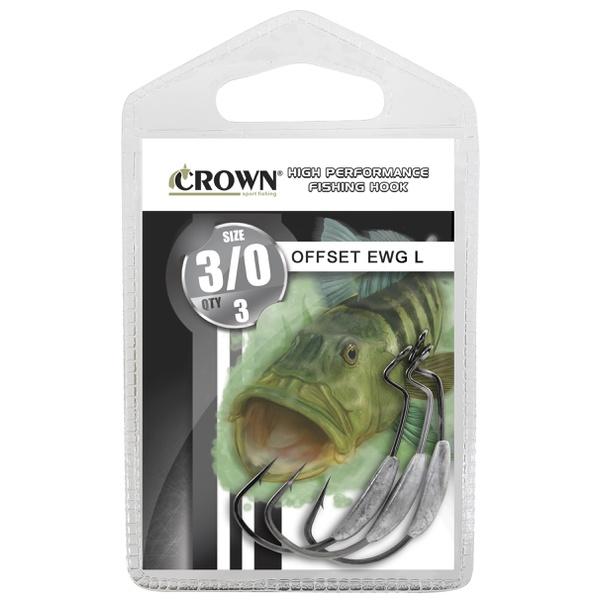 Anzol Crown Offset EWG com Lastro (ideal para isca soft)