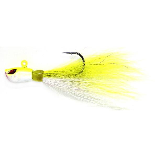 Isca Yara Killer Jig 2/0 10g Cor Branco e Amarelo