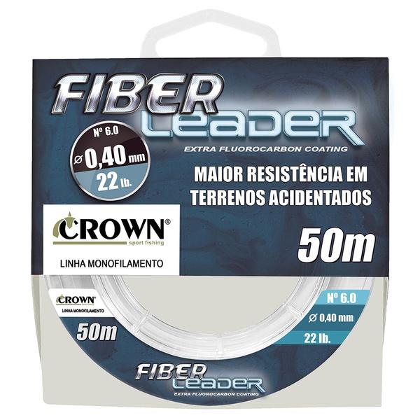 Linha Crown Fiber Leader - c/ 50m - Líder
