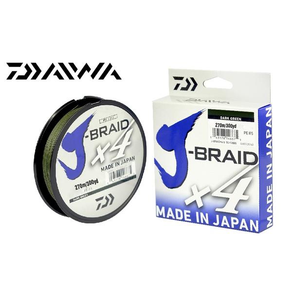 LINHA MULTIFILAMENTO DAIWA J-BRAID X4U 270m - VERDE