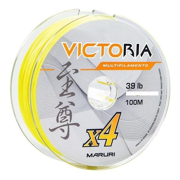 Linha Multifilamento Maruri Victoria Super PE 4X 100m - Amarela