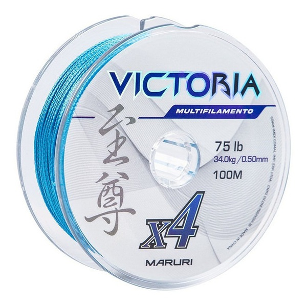 Linha Multifilamento Maruri Victoria Super PE 4X 100m - Azul