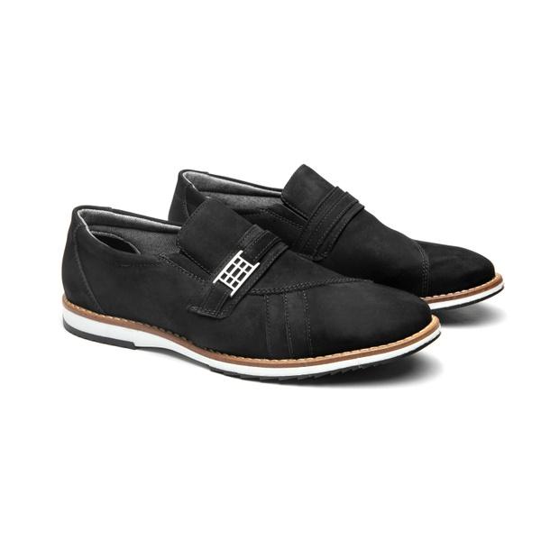 Sapato Casual Laurent Preto em Couro