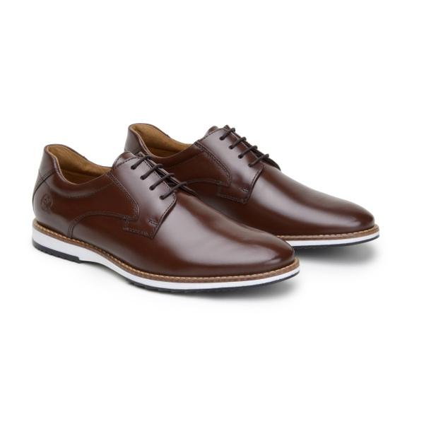 Sapato Casual Leblanc Marrom em Couro