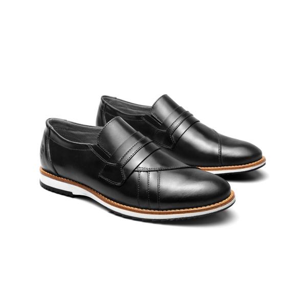 Sapato Casual Richard Preto em Couro