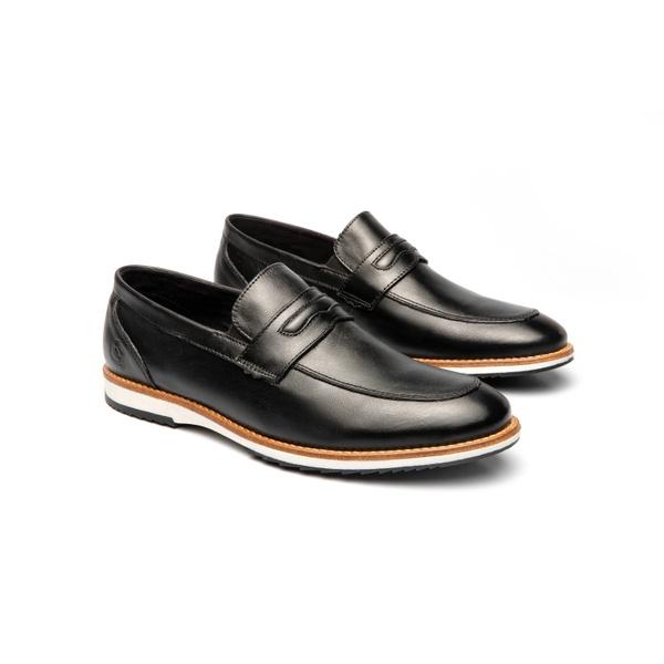 Sapato Casual Martin Preto em Couro