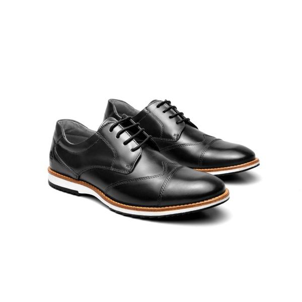 Sapato Casual Bernard Preto em Couro