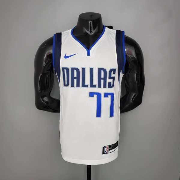 Camisa NBA DALLAS MAVERICKS BRANCA SILK -DONCIC 77