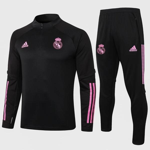 Kit Agasalho Moletom Real Madrid meio ziper