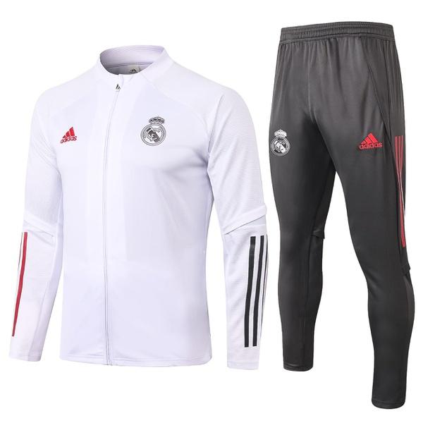 Kit Agasalho Moletom Real Madrid ziper completo