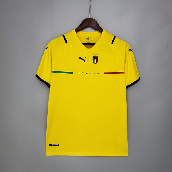 Camisa Itália Goleiro Amarela Torcedor 20/21