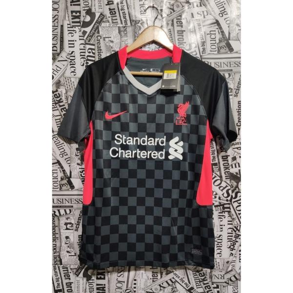 Camisa Liverpool 20 21 Masculina Preto Rosa Brasil Fut