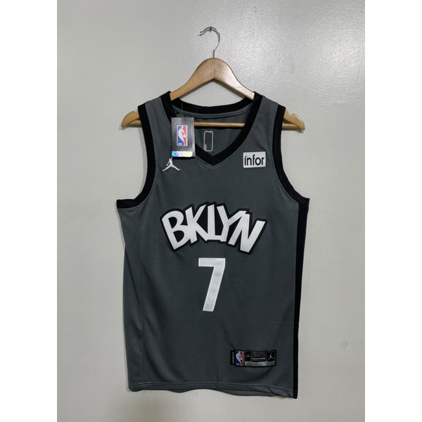 Regata Nba Brooklyn Bordada (torcedor) Kevin Durant Camisa 7