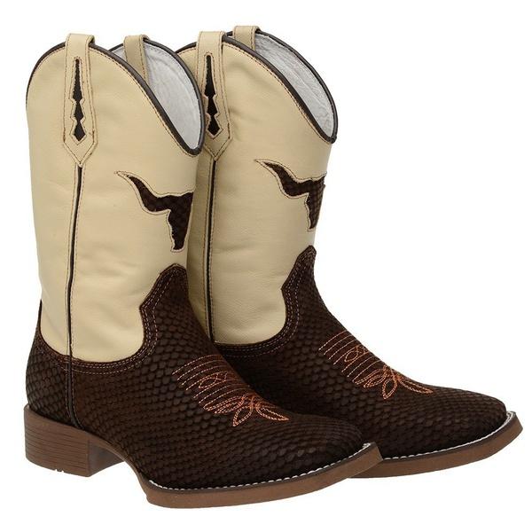 bota texana bico quadrado -boi