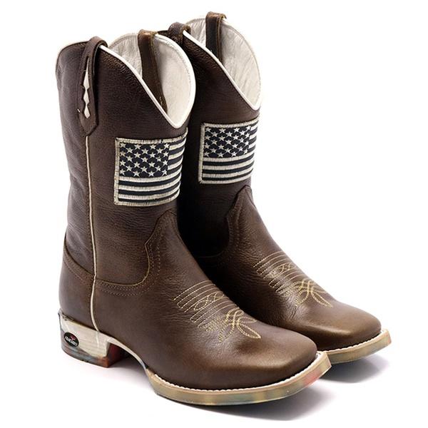 bota texana masculina atlanta bico quadrado