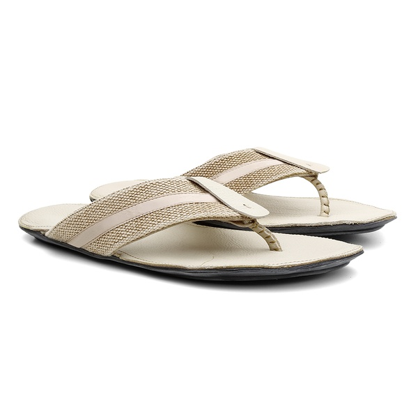 Chinelo de Couro Napa Fly Natural