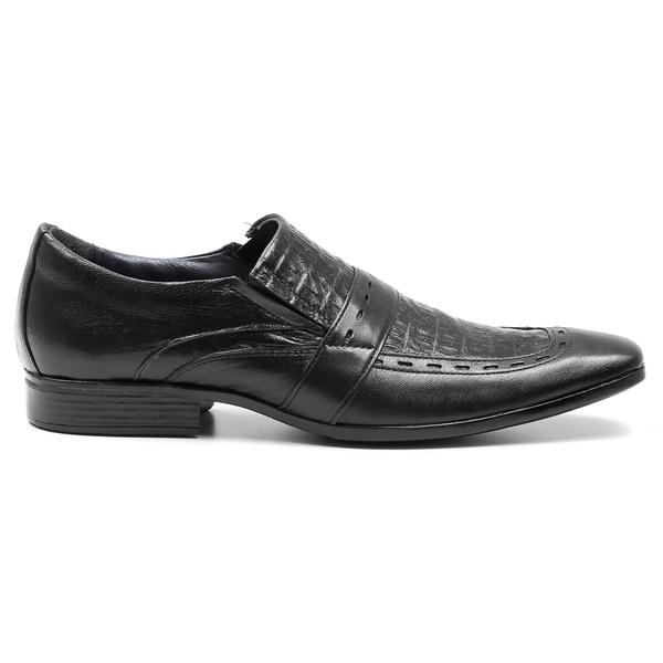 Sapato Social Pelica/Croco Preto