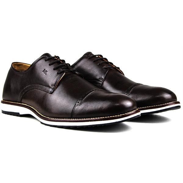 Sapato Masculino Brogue Derby Comfort Café 8005
