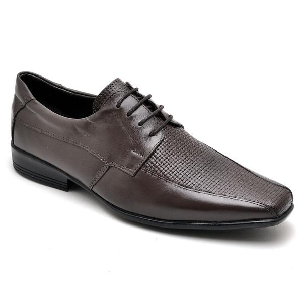 Sapato Casual Conforto Couro de Carneiro Café 014