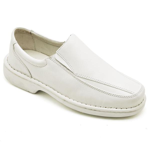 Sapato Casual Conforto Couro de Carneiro Branco 2001