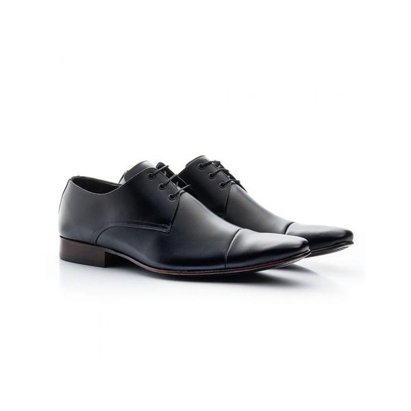Sapato Social Masculino Couro Preto 307