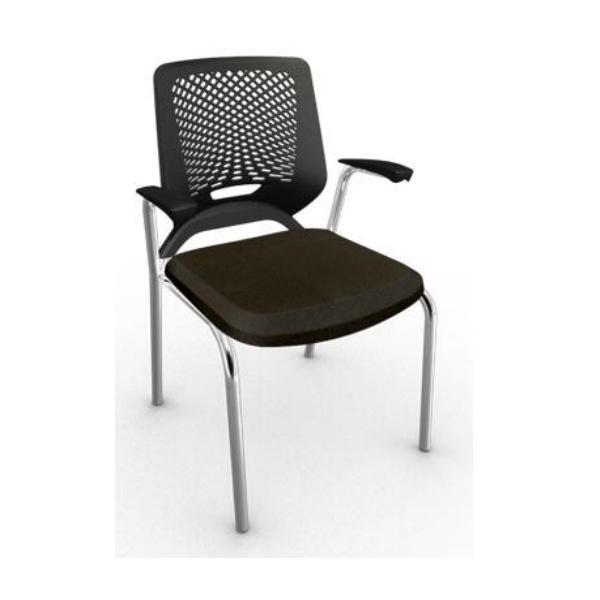 Cadeira Beezi 4 pés com braços - Plaxmetal
