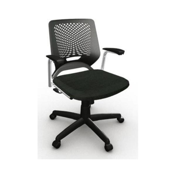 Cadeira Beezi giratória com braço- Plaxmetal