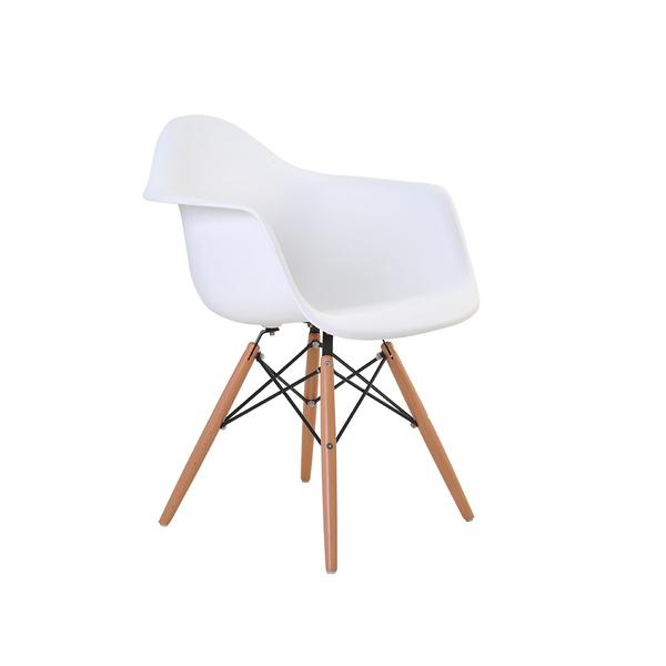Cadeira Eiffel com Braço PP base madeira