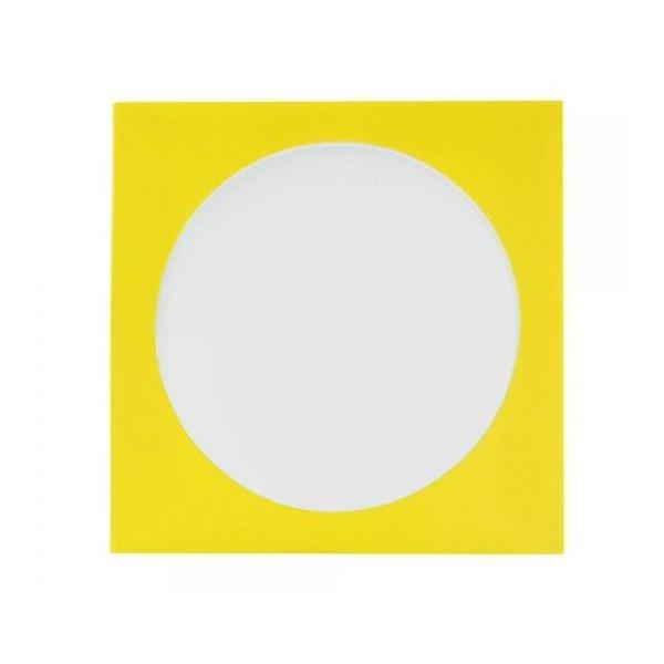 Envelope Papel c/ Visor Amarelo - CX / 1.000un.