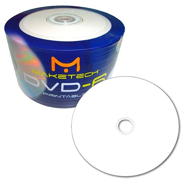 Dvd-r Maketech 4.7gb 16x - Printable c/100UN.