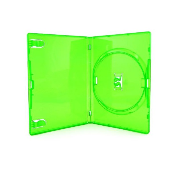 Box DVD Amaray Verde c/25UN.