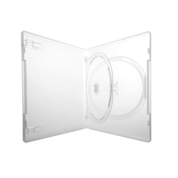 Box DVD Amaray Triplo Transparente CX c/100UN.