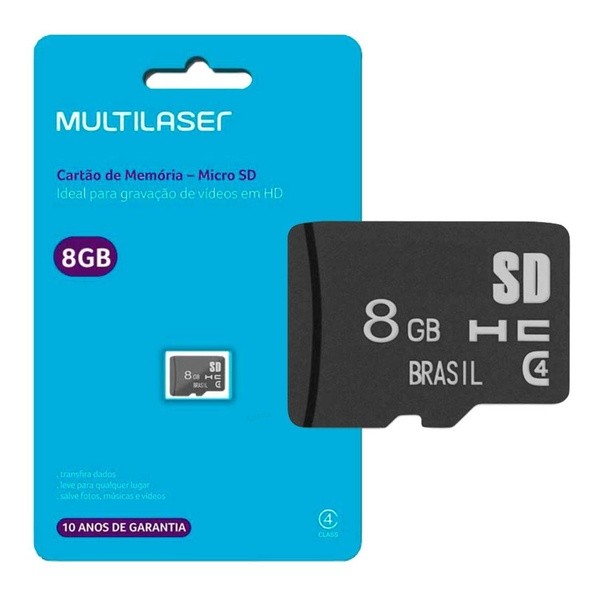 CARTÃO DE MEMORIA MICRO SD - 8GB MULTILASER
