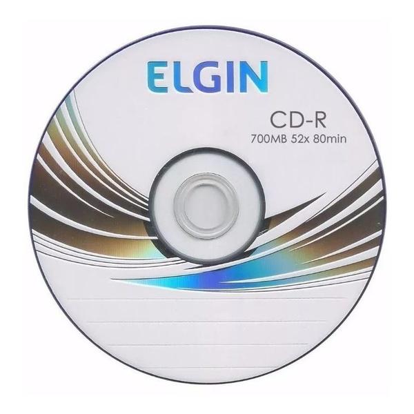 CD-R ELGIN 700MB/80MIN/52X - LOGO C/05UN.